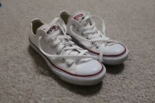 Converse Chuck Taylor All Star White Canvas Low Tops 5 Men Size 7 Women