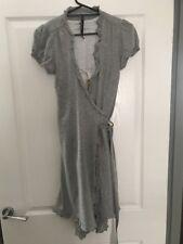 Laundry Industry Grey Wrap Dress And Vest Set Size