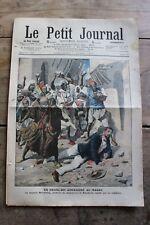 Petit journal dibujada N°855 1907 D Mauchamp Assassiné Marakech Garde barrera 2