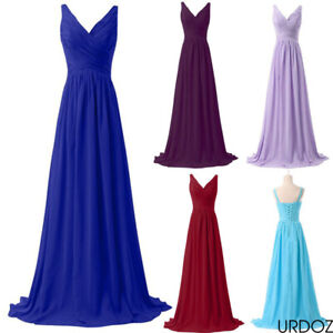 Women Evening Formal Dress Party Bridesmaid Maxi Dresses Prom Cocktail Long Gown