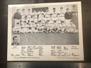 1957 Minneapolis Millers Team Photo With Orlando Cepeda - Cha Cha - Vintage Orig