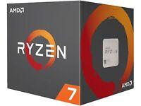 AMD Ryzen 7 2700X 8-Core 105W CPU 3.7GHz Socket AM4 w/Fan YD270XBGAFBOX  Retail