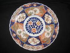 Antique Japanese Meiji Era (c. 1880) Large Ceramic Imari Charger Floral Design