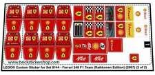 Lego Custom Pre-Cut Sticker for Set 8144 - Ferrari 248 F1 Team (Raikkonen Ed.)
