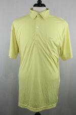 Sligo Golf Mens Polo Shirt 2XL Yellow Solid Short Sleeve Sport Active