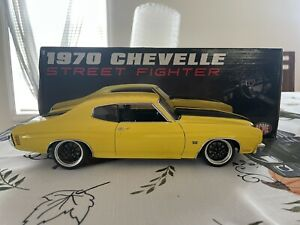 Acme 1970 Chevrolet Chevelle SS Yellow Street Fighter 1:18 Scale