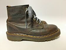 Vtg Dr Doc Martens Docs Brown Leather Boots Mens 6 / Womens 7 Shoes ENGLAND VGC!