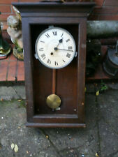 More details for gledhill brook time recorder with key and pendulum no glass 57591 1940's