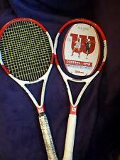 2 Wilson 2013 BLX Six One 95 18x20 Tennis Racquet w/Parallel Drilling Grip 4 ¼
