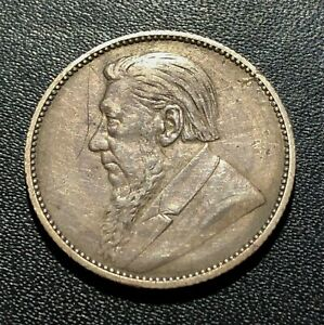 South Africa 1894 One Shilling Silver Coin