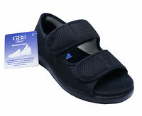 LADIES BLACK GBS MEDICAL ORTHO ADJUSTABLE NON-SLIP TOUCH STRAP COMFORT SHOES