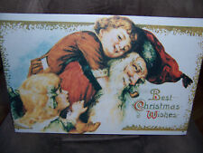 """OLD FASHION - """"BEST CHRISTMAS WISHES""""  METAL SIGN, NEW!"""