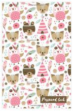 Pink Bears Password Book Lg Print Keeper Website Log Journal Logbook Organizer