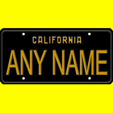Bicycle license plate - California design, new custom personalized, any name