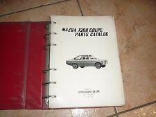 MAZDA 1300 COUPE PARTS CATALOG VOL-1 manuel atelier env. 1971 en Anglais