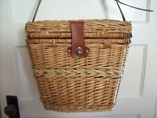 Large Wicker Picnic Basket w/Shoulder strap, Picnic, Party,  or Holiday crafts