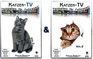 Katzen-TV - Fernsehen für Fellnasen - Compilation - Vol. 1 + 2 (2 DVD`s)