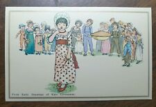 Kate Greenaway From Early Drawings Postcard. Children, Large Pie
