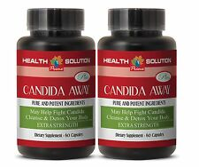 Candida - CANDIDA AWAY Detox Pills Body Cleanse (2 Bottles, 120 Caps)