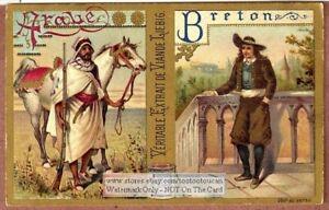Male Clothing Arabian And Bretone 1898 Trade Ad  Card