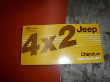 1986 JEEP CHEROKEE 2 WHEEL DRIVE ORIGINAL FACTORY OWNER'S MANUAL FRENCH/ENGLISH