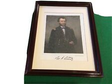 New listing US Grant Framed Picture with Autograph from New York Historical Society Gen/Pres
