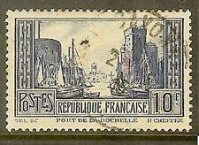 "FRANCE TIMBRE STAMP YVERT N° 261 "" PORT DE LA ROCHELLE 10 F  "" OBLITERE TB"