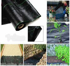 2x Heavy Duty 100gsm Weed Control Woven Fabric Ground Cover Mulch Membrane Mat