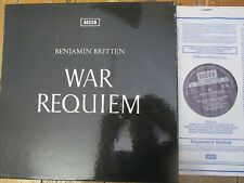 SET 252/3 Britten War Requiem / Vishnevskaya / Pears / LSO etc 3 LP box set