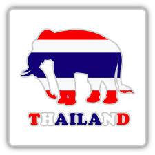 """Thailand Flag Elephant Car Bumper Sticker Decal 5"""" x 5"""""""