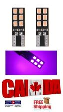 2x 12SMD Pink Purple LED T10 194 168 Canbus Error Free Map Dome Plate Light Bulb
