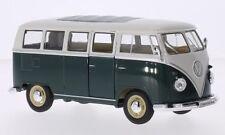 Volkswagen T1 bus vert foncé/blanc 1963 1/24 Welly