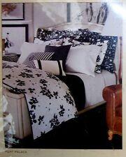 627 Ralph Lauren Port Palace Black & White Floral KING Bedskirt Dust Ruffle