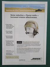 5/2007 PUB BOSE TRIPORT TACTICAL HEADSET TACTICAL WHEELED VEHICLE HELMET AD
