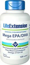 Life Extension MEGA EPA DHA 120 SOFTGELS Fish Oil Omega-3