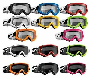 Thor COMBAT Adult Goggles - ALL COLORS - Clear and Smoke Sand - MX Off-Road