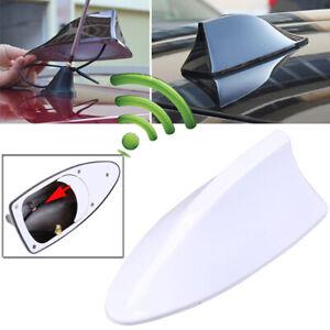 White Shark Fin Style Car Roof Antenna Aerial FM/AM Radio Signal Auto Decor Kit