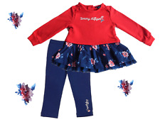 Tommy Hilfiger Toddler Little Girls 4T 2 Piece outfit BNWT Red/Pink/Blue