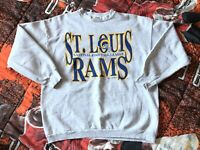 Vintage 1995 St. Louis Rams NFL Football Pullover Sweatshirt Mens Medium EUC