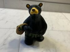 """Bear Foots 6"""" Black Leaf Bear Figurine, Excellent Condition, """"Woody"""""""