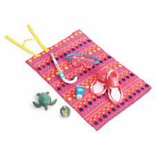 NIB ~ American Girl Lea's Beach Accessories ~ Snorkel Towel Sea Turtle Swim Fins