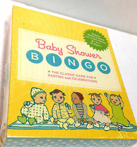New Baby Shower Party Bingo Game For 16 Players With Word Pieces & Tokens Yellow