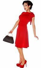 Folter Bridget Bombshell Dress Retro Pin-up Rockabilly Red Small
