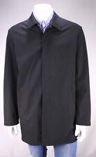 * PRADA * Black Polyester Stretch Lightweight Zip Front Long Jacket~ XL