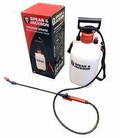New 5L Spear And Jackson Hand Pump Sprayer Pressure Spray Bottle Weed Garden