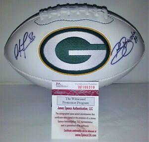 Green Bay Packers Signed Super Bowl Football Freeman Beebe Brooks + JSA W196319