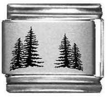 Clearly Charming Trees Laser Italian Charm