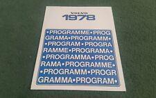 1978 VOLVO 244 245 264 RANGE UK FOLDER BROCHURE