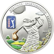 Cook Islands 2013 $5 PGA TOUR - Golf Club 20g Silver Proof Coin with Inlay