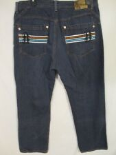 Notorius B.I.G. Cotton Blnd Hip-Hop 40 x 30 Dk Rinse Embroidered Straight Jeans